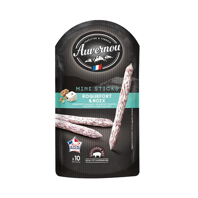 Mini Saucisson Sticks Walnuts & Roquefort - 100g - gourmet-de-paris-london