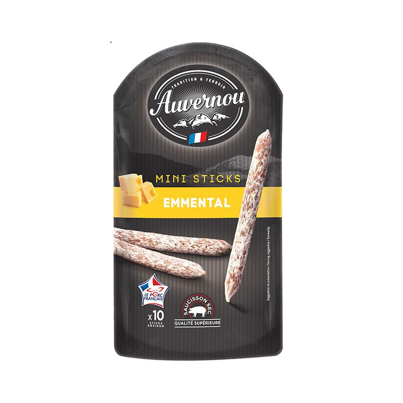 Mini Saucisson Sticks Emmental - 100g - gourmet-de-paris-london