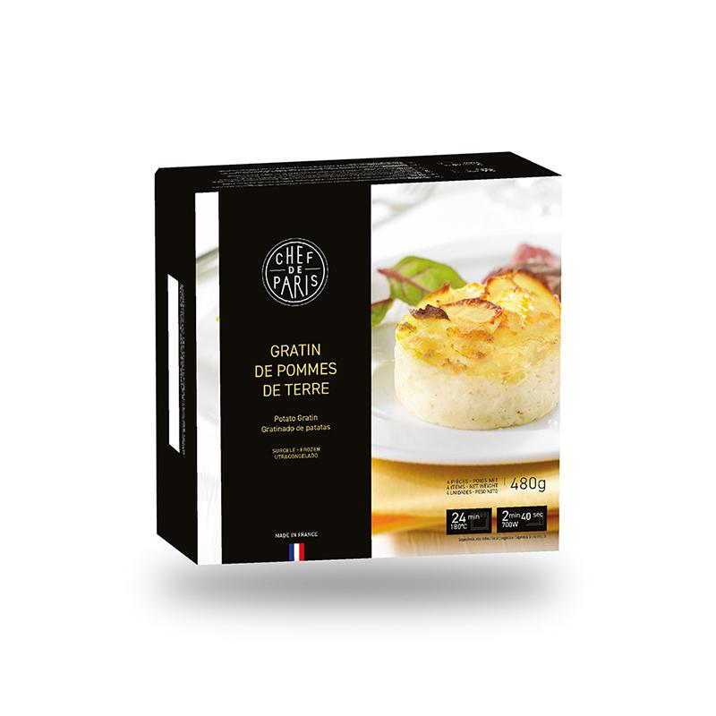 Potato gratin - frozen - 480g - gourmet-de-paris-london