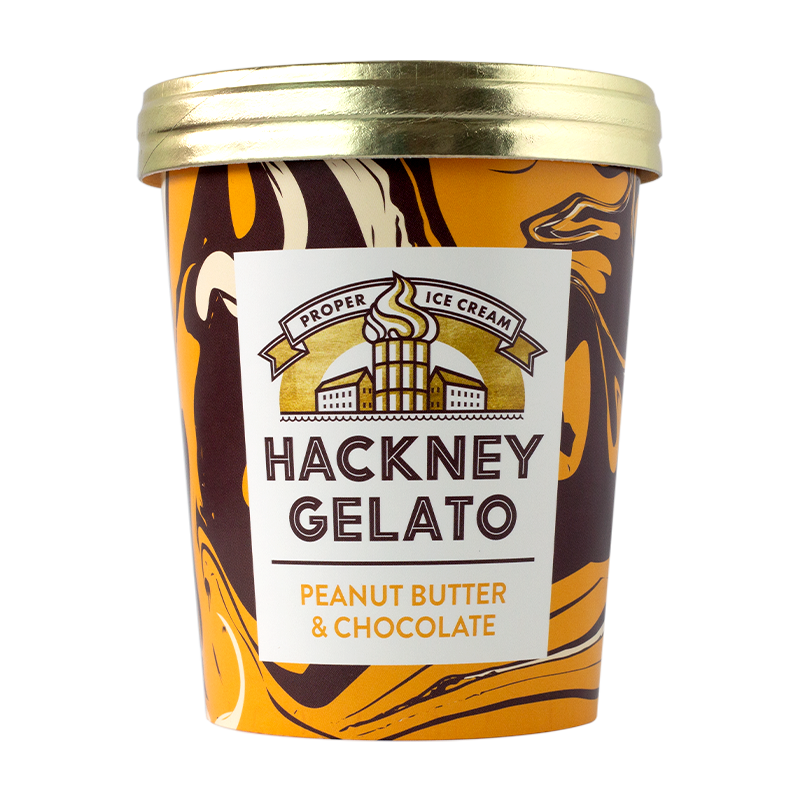 Peanut butter & chocolate Gelato - 500ml - gourmet-de-paris-london