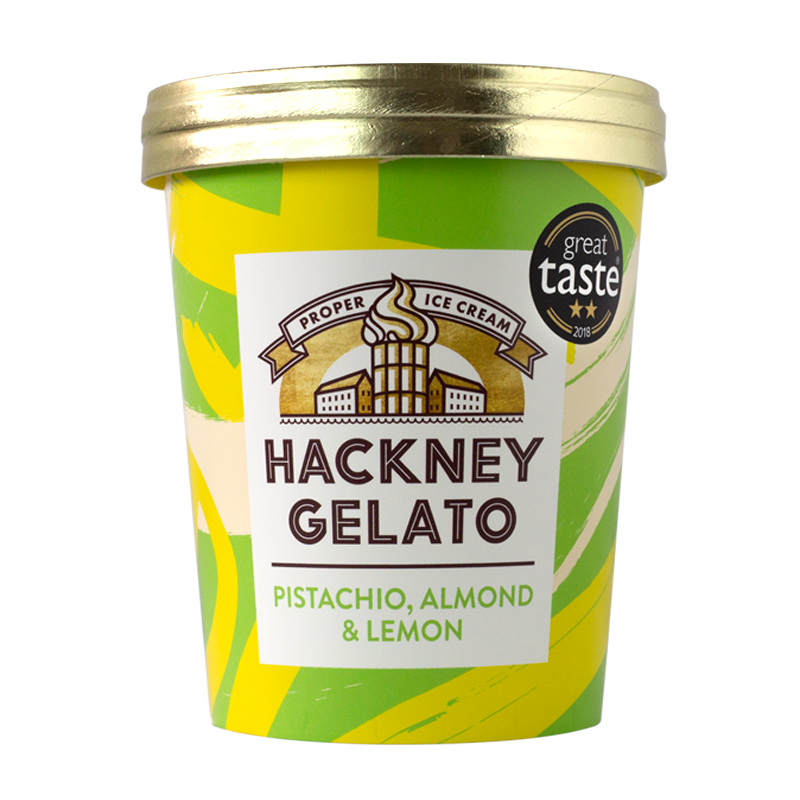 Pistachio, Almon & Lemon Gelato - 500ml - gourmet-de-paris-london