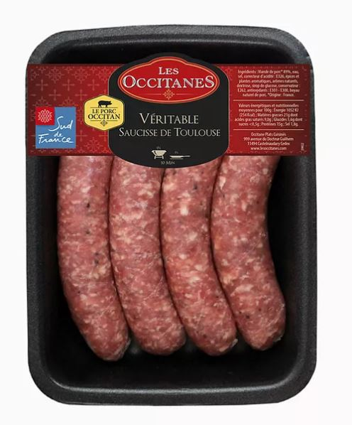Toulouse Sausages Frozen Les Occitanes - 400g