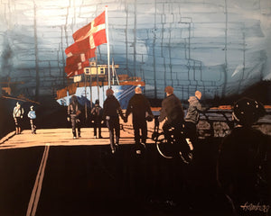 Painting of Majestic Mærsk Copenhagen