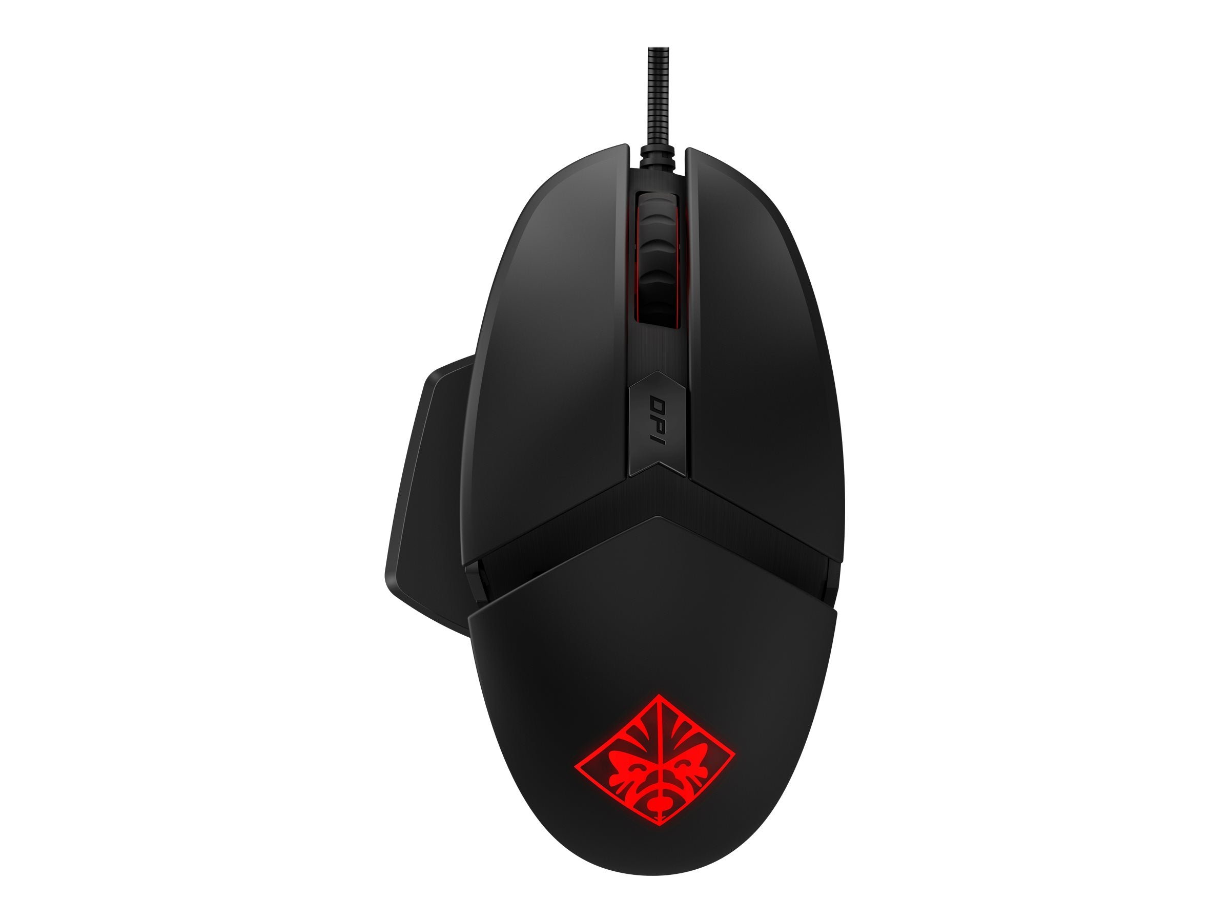 Gamer Mus HP OMEN Reactor Optisk Kabling Sort