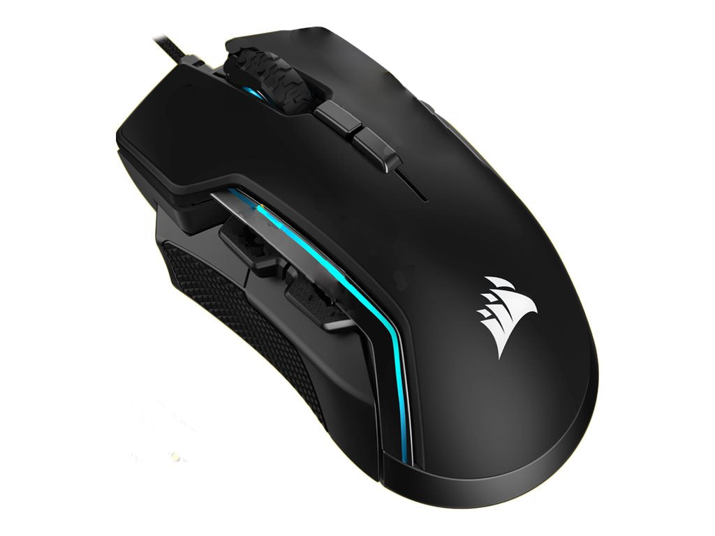 Gamer Mus Corsair Glaive RGB Pro Optisk Kabling Sort