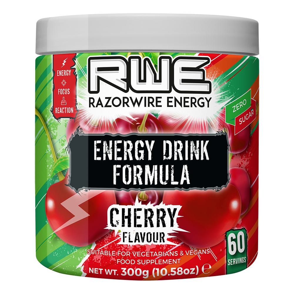 Player 1 Cherry Energy Gaming Fuel -  60 Portioner - Lootbox.dk