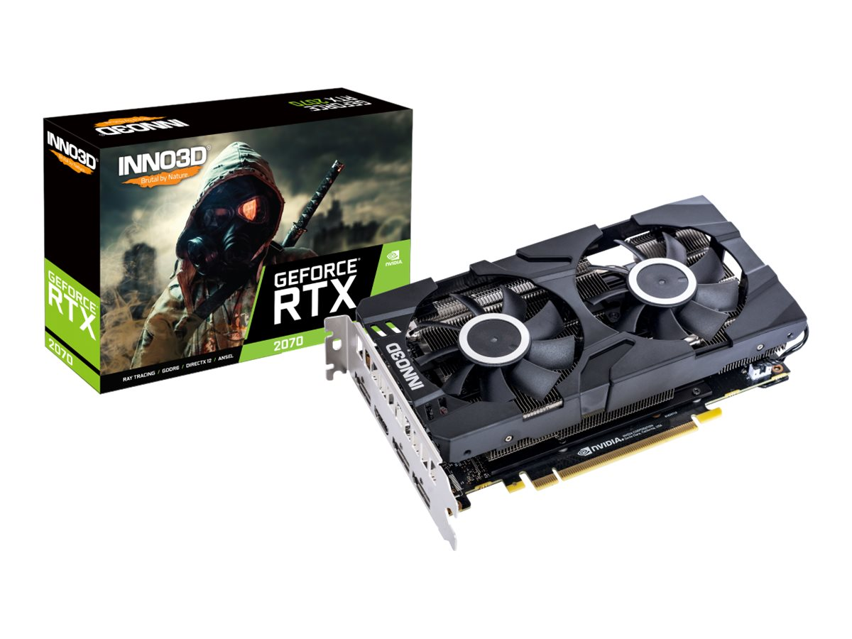 Grafikkort Inno3D GeForce RTX 2070 Twin X2 8GB GDDR6