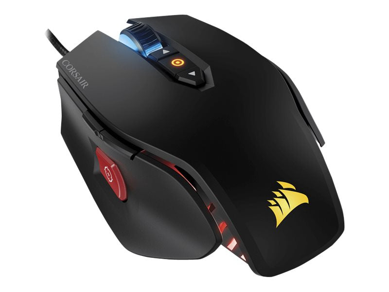 Gamer Mus Corsair M65 Pro RGB FPS Optisk Kabling Sort