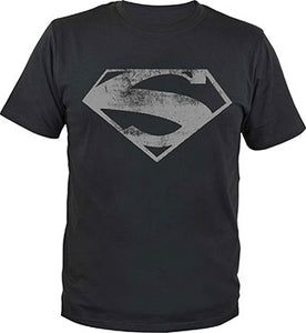 Superman T-Shirt Man of Steel Logo Størrelse Large