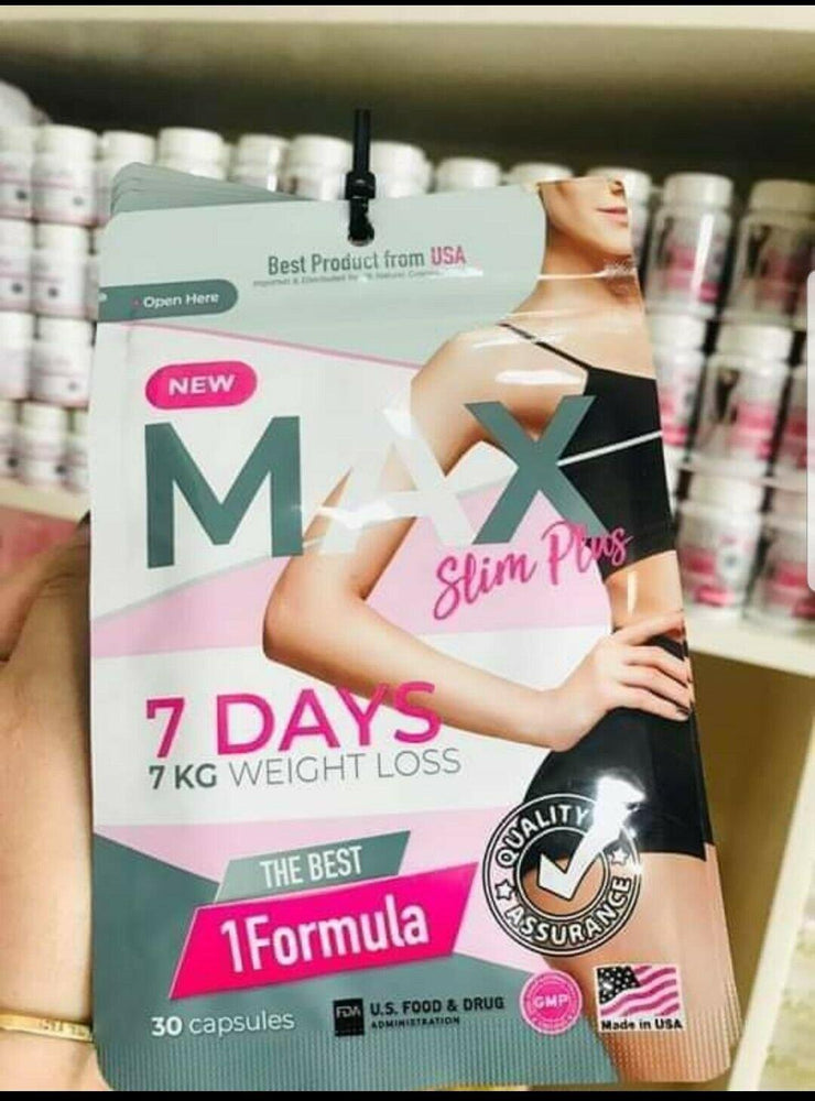 2 Packs New MAX Slim Plus 7 Days Weight Loss Supplements Fat Burn Formula 60caps