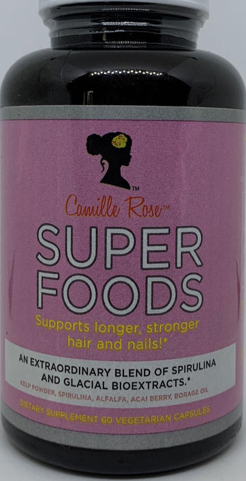 2 X Camille Rose Super Foods Supports Longer Hair and Nails 60 Caps each EXP 03/20