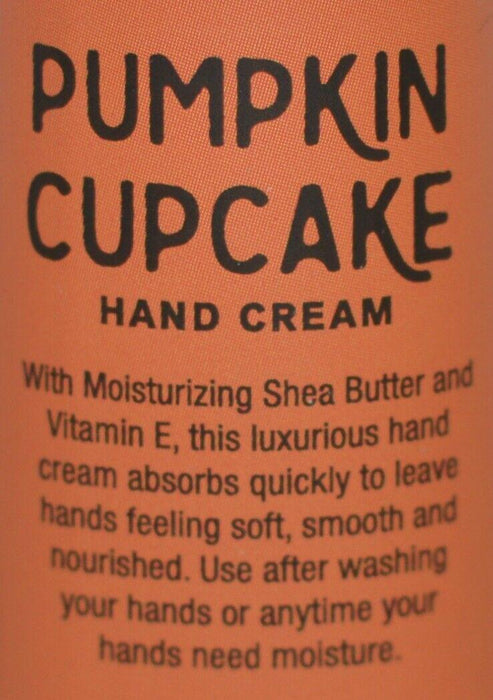 3 BATH BODY WORKS PUMPKIN CUPCAKE HAND CREAM LOTION SHEA BUTTER 1OZ TRAVEL SIZE