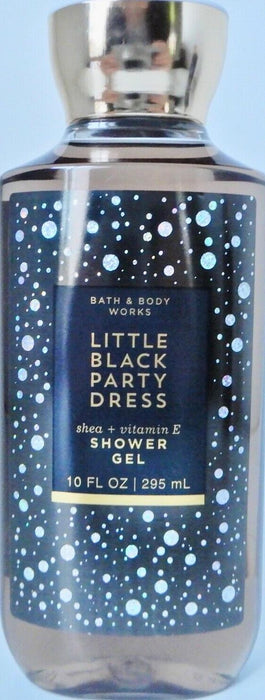 3 BATH and BODY WORKS LITTLE BLACK PARTY DRESS SHOWER GEL SHEA + VITAMIN E 10 oz