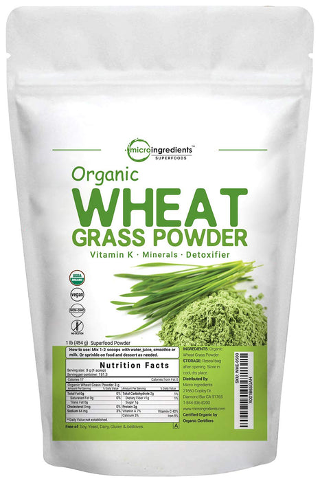 Micro Ingredients Organic Wheat Grass Powder