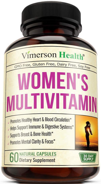 Women's Daily Multivitamin Multimineral Supplement. Vitamins and Minerals. Chromium, Magnesium, Biotin, Zinc, Calcium, Green Tea. Antioxidant Properties for Women. Heart, Breast Health. 60 Capsules (60 Count)