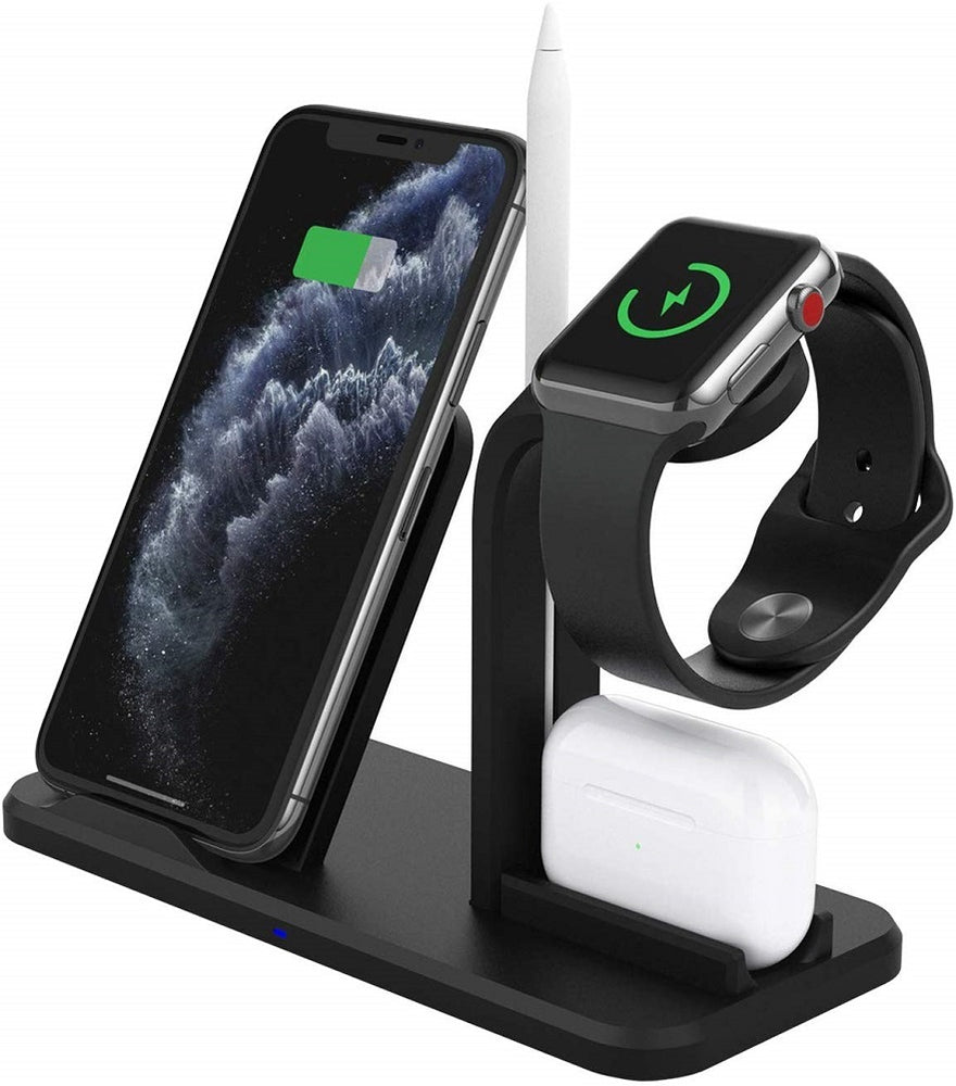Wireless Charger 3 in 1 Wireless Charging Station fr AirPods Pro, iWatch, iPhone