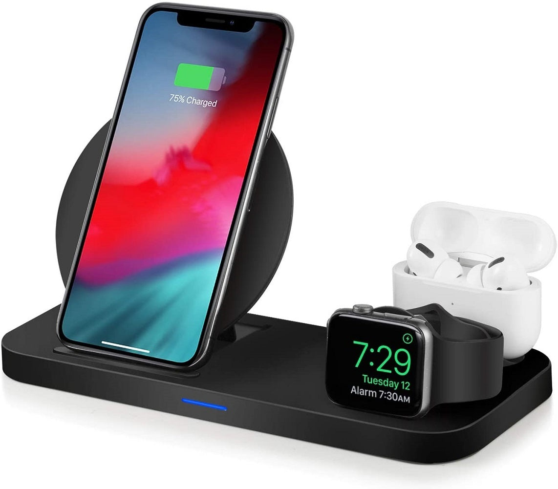 WATOE Wireless Charger 3 in 1 Charging Station for Apple Watch and Airpods Qi