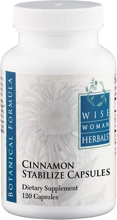 Wise Woman Herbals – Cinnamon Stabilizing Capsules – 120 Caps – Supports Healthy Blood Sugar and Glucose Levels, Stabilizes Metabolism, Encourages Insulin Function, Fenugreek for Cardiovascular Heart