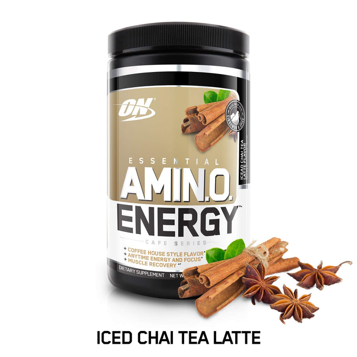 Optimum Nutrition Essential Amino Energy | Iced Chai Tea Latte | 30 Servings