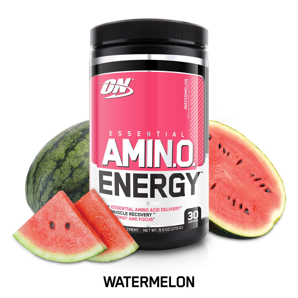 Optimum Nutrition Amino Energy with Green Tea and Green Coffee Extract, Flavor: Watermelon, 30 Servings