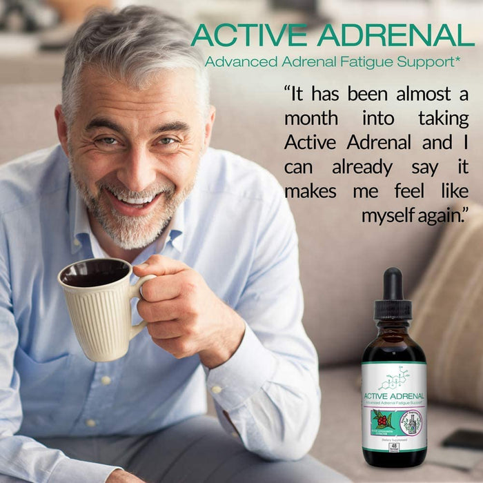 Active Adrenal - Advanced Adrenal Fatigue Supplement - All Natural Liquid Formula for 2X Absorption - Ashwagandha, B-Vitamins Magnesium and More