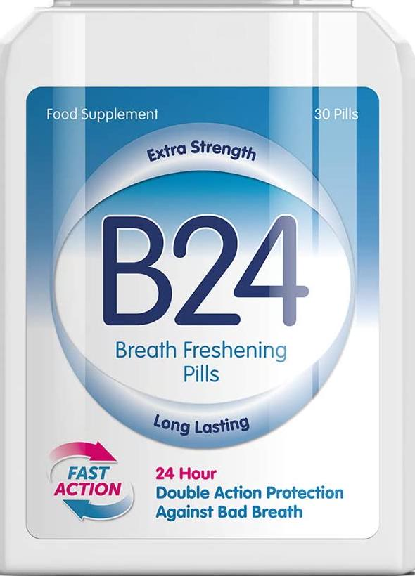 B24 Breath FRESHENING Capsules – Stop Bad Breath Stop HALITOSIS Clean Mouth