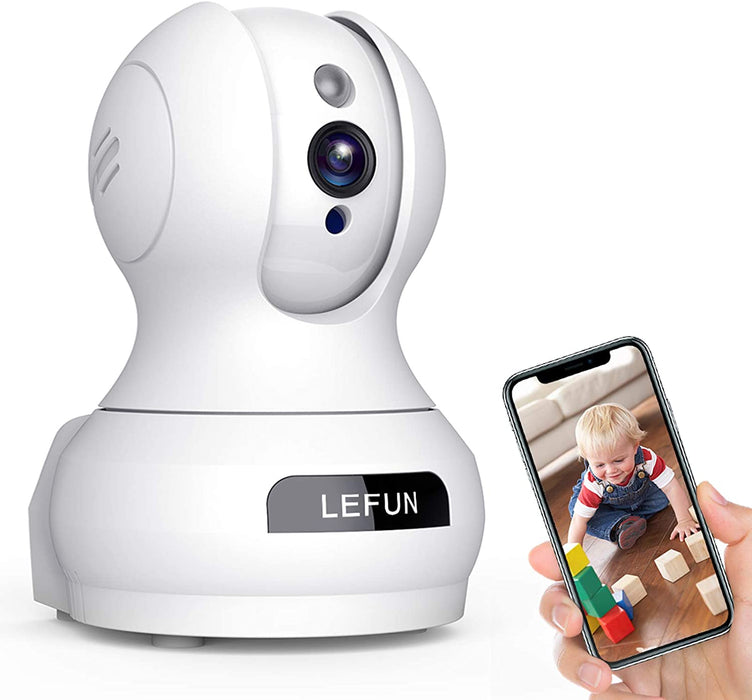 Baby Monitor, Lefun WiFi IP Security Camera Surveillance Pet Camera with Cloud Storage Two Way Audio Remote Viewing Pan Tilt Zoom Night Vision Motion Detect for Indoor Home Shop Office