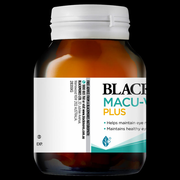 Blackmores Macu-Vision Plus 60 Tablets Macula Eye Health Lutein Macuvision