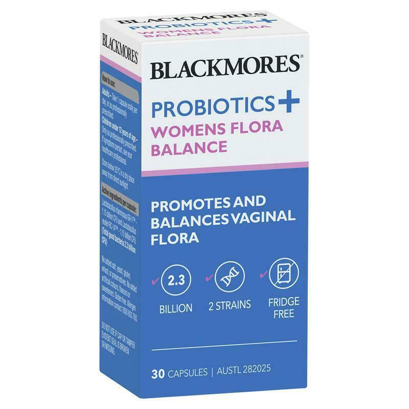 Blackmores Probiotics+ Womens Flora Balance 30 Capsules Gluten Free Dairy Free