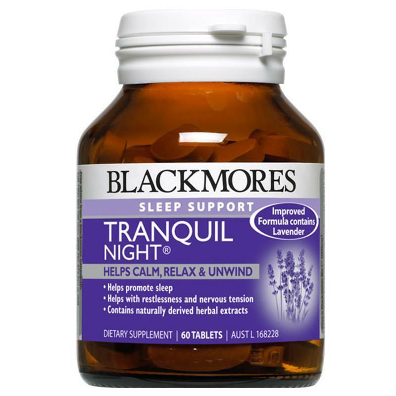 Blackmores Tranquil Night Tablets 60 Combines Sedative Herbs