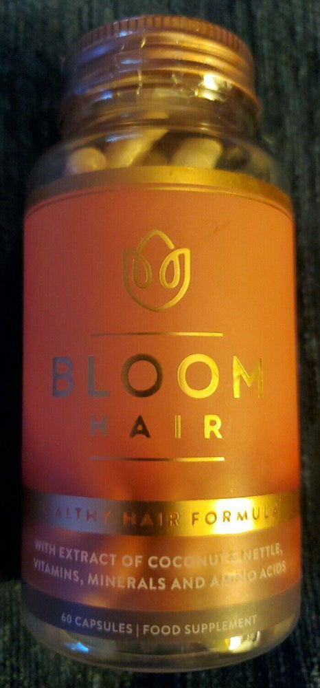 Bloom Healthy Hair Formula Supplement 60 caps ALL NATURAL exp.3/2021