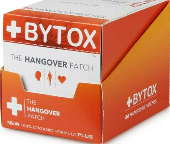 Bytox The Hangover Patch with 12 Organic All Natural Vitamins - Fast Shipping!