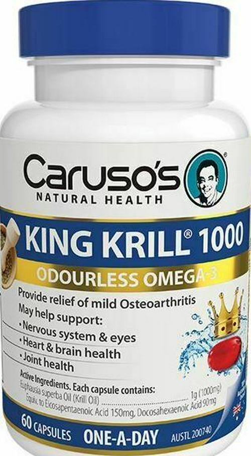 Caruso's Natural Health King Krill 1000mg 60 Caps