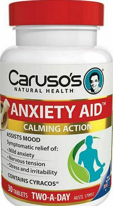 Caruso's Natural Health Anxiety Aid 30 Tabs