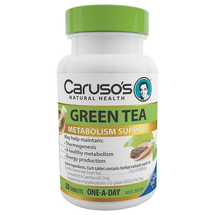 Carusos Natural Health One a Day Green Tea 50 Tablets