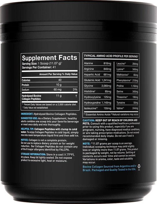 Collagen Peptides Powder | Hydrolyzed for Better Collagen Absorption | Non-GMO Verified, Certified Keto Friendly and Gluten Free - Unflavored