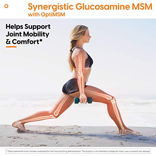Doctor's Best Synergistic Glucosamine MSM with OptiMSM, Non-GMO, Gluten Free, Soy Free, Joint Support, 180 Caps (DRB-00070)