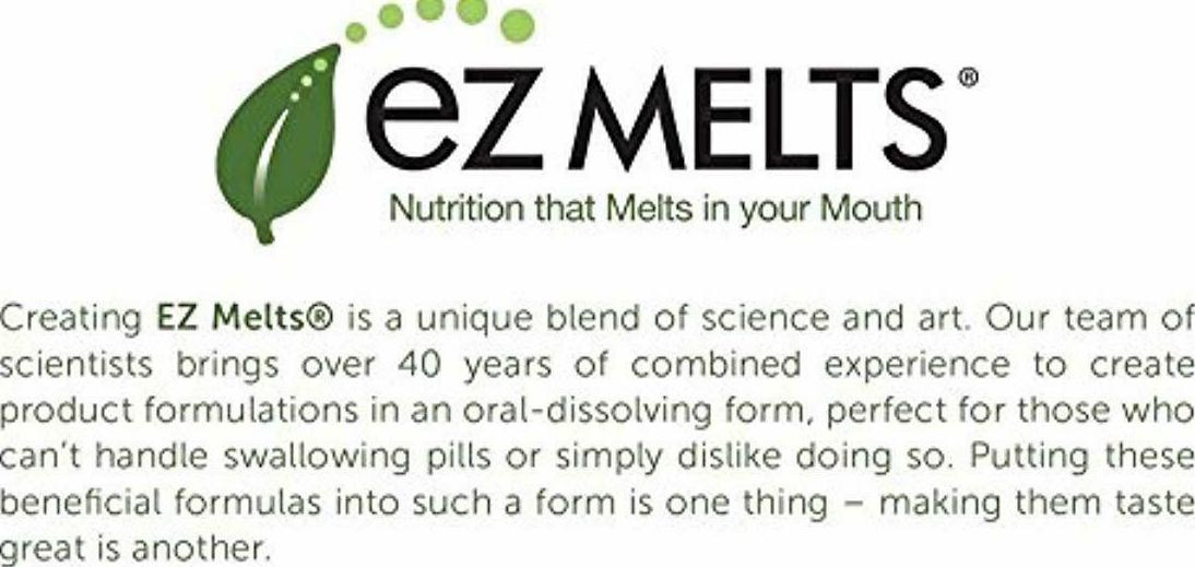 EZ Melts Lutein Plus with Zeaxanthin and Zinc, 20 mg, Sublingual Vitamins, Vegan