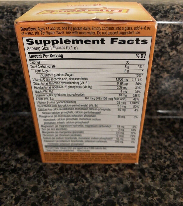 Emergen-C Raspberry 1000mg Vitamin C Immune Support 10 Packets Supplement -08/21