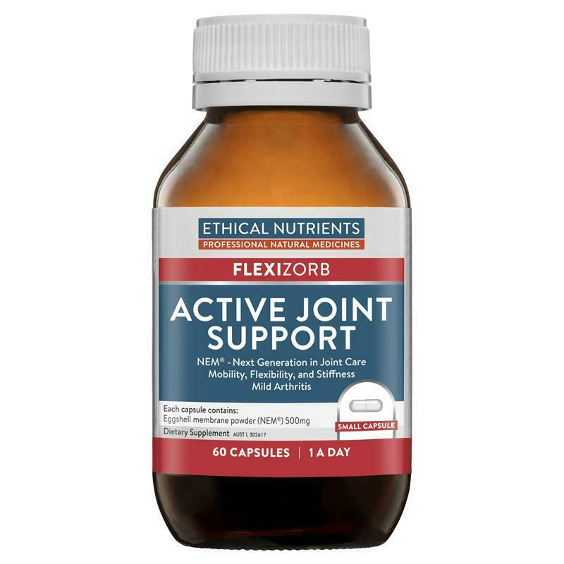 Ethical Nutrients Active Joint Support NEM 60 Capsules Suitable For Vegetarian