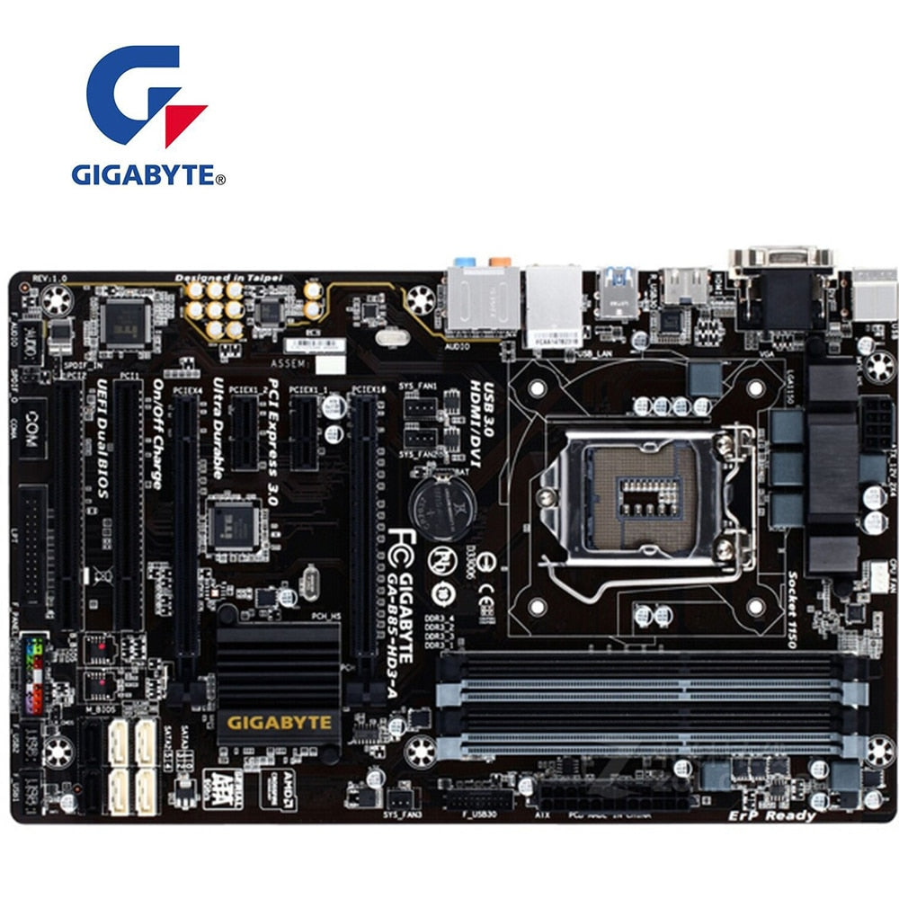 For GIGABYTE GA-B85-HD3-A Motherboard B85-HD3-A Socket LGA1150 DDR3 For Intel B85 B85M Original Desktop Used Mainboard