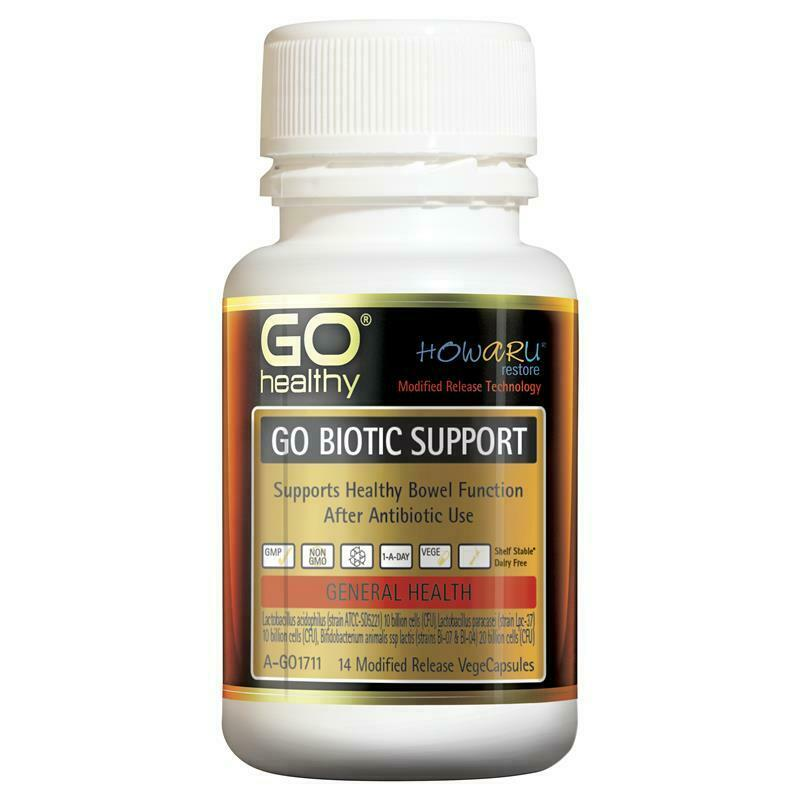 GO Healthy Biotic Support 40 Billion 14 Vege Capsules Support Bowel Function