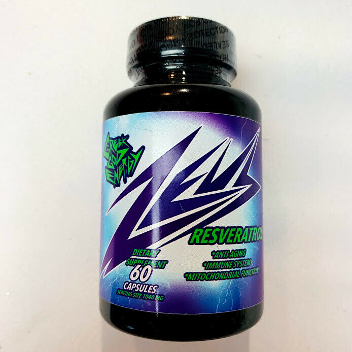 Greek God Energy Zeus Resveratrol 60 Capsules Dietary Supplement