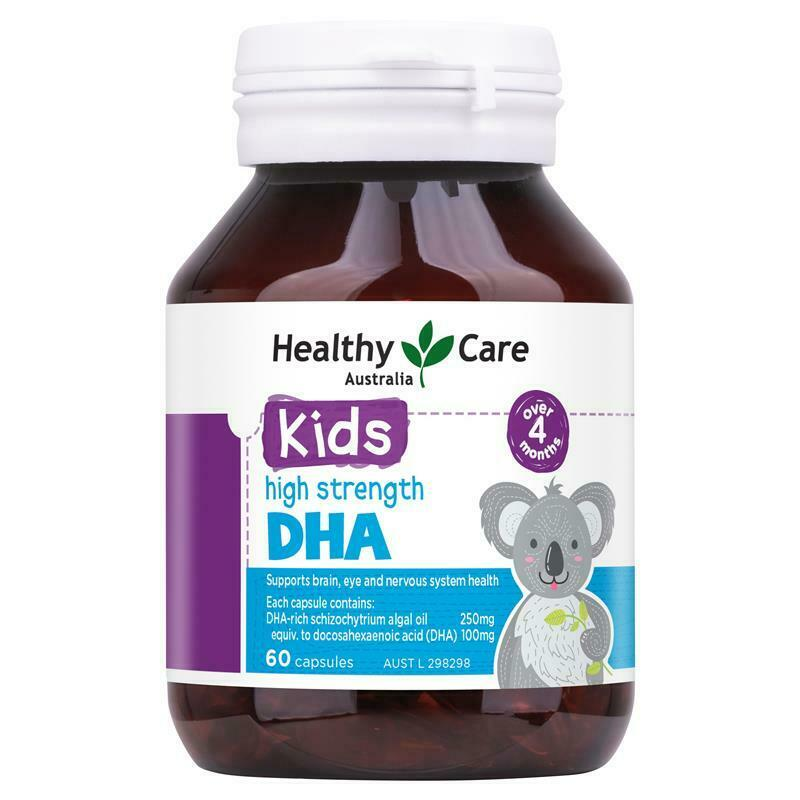 Healthy Care Kids DHA 60 Capsules Support Healthy Brain Development
