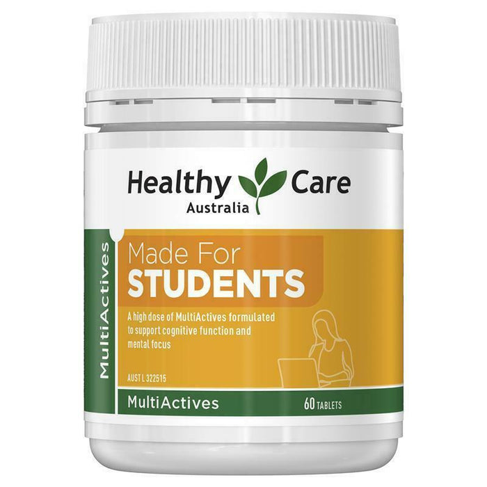 Healthy Care Multi Actives Made for Students 60 Tablets Support Mental Focus