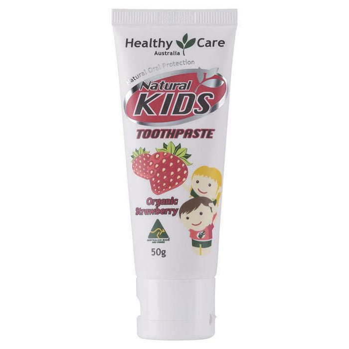 Healthy Care Natural Kids Toothpaste Organic Strawberry Flavour 50g