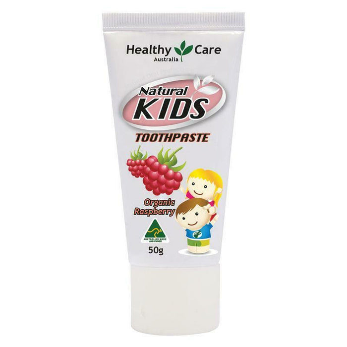 Healthy Care Natural Kids Toothpaste Organic Raspberry Flavour 50g Fluoride Free