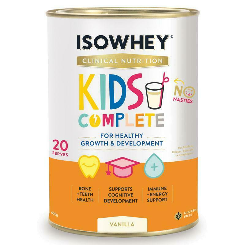 IsoWhey Clinical Nutrition Kids Complete Vanilla 600g Fussy Eaters