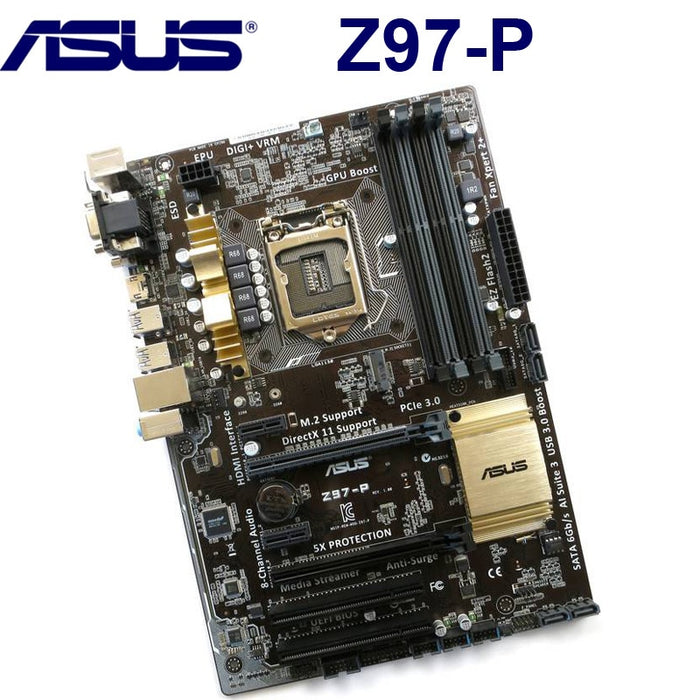 LGA 1150 DDR3 Z97 For ASUS Z97-P 100% Original Motherboard USB 3.0 32G Z97P Desktop Mainboard SATA 3 Mother board PCI-E X16 Used