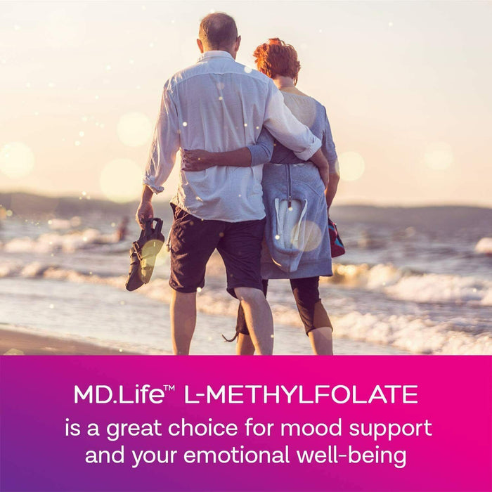 MD.Life L-Methylfolate 1 mg. 90 - Capsules- 5-MTHF Folate Supplement